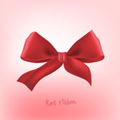 Ribbon red bow — Stock Vector