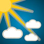 Bild med solen — Stockvektor