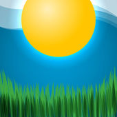 Image with sun — Stock Vector