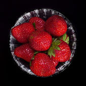 Strawberry glass — Stock Photo