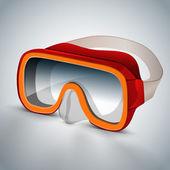 Gafas de buceo (máscara de buceo) — Vector de stock