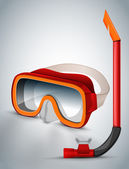Diving goggles (diving mask) — Stock Vector