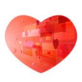 Abstracte hart achtergrond — Stockvector