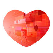 Fond coeur abstrait — Vecteur