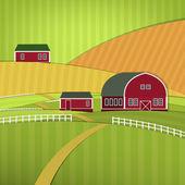 Eco farm landscape — Stock Vector
