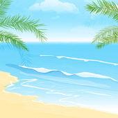 Sakin deniz — Stok Vektör