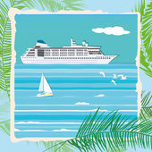 Cruise liner — Stock Vector