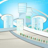 Eco City landscape — Stockvektor