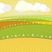 Eco fields landscape — Stock Vector