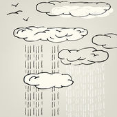 Rain and clouds — Stock Vector
