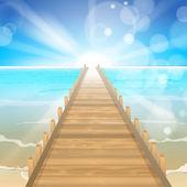 Paradise Sea — Stock Vector