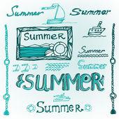 夏天字母 05 — 图库矢量图片