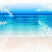 Beautiful sea background — Stock Vector