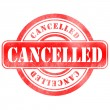 Stock Photo: Stamp of Cancelled