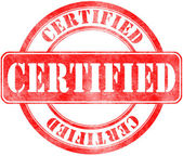 Stamp of Certified — Stock Photo