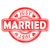 Stempel van net getrouwd — Stockfoto
