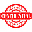 Stamp confidential top secret — Stock Vector