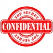 Stock Vector: Stamp confidential top secret