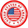 Stock Vector: Stamp of USA