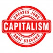 Stamp of Capitalism — Stock Vector