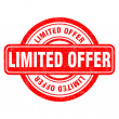 Stamp of Limited offer — Imagen vectorial