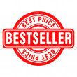 Stamp of Bestseller — Image vectorielle