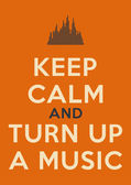 Keep Calm Poster — Stock Photo