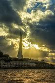View of the sunset in Sevastopol's bay — Foto Stock