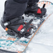 Stock Photo: Close up of snowboard