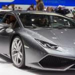 Geneva Motor Show: Lamborghini Aventador — Stock Photo #43053281
