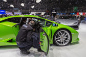 Geneva Motor Show: Lamborghini Gallardo — Stock Photo