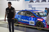 Geneva Motor Show: Subaru WRC — Stock Photo