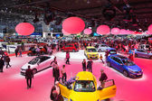 Geneva Motor Show: People — Stock Photo