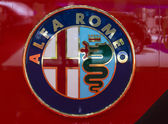Geneva Motor Show: Alfa Romeo Logo — Stock Photo