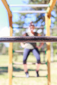 Girl practicing fitness — Stock Photo