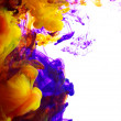 Stock Photo: Color ink in water