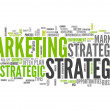 Word Cloud Marketing Strategy — Stock Photo