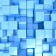 Blue cubes abstract background — Stock Photo
