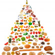 Food pyramid — Stock Photo #35084279