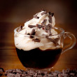 Caffè con panna montata — Stock Photo