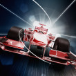 3d render, formula one car concept — Stock Photo