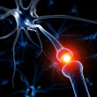 3d rendered medical illustration - active neurone — Stock Photo