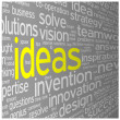 IDEAS Tag Cloud innovation solutions problem-solving — Stock Photo