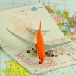 Passeport, voyage par avion, taxes d'aéroport — Stock Photo
