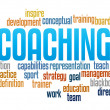 Coaching in word collage — Stock Photo