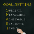 Business hand writing smart goal or objective setting - specific — Stock Photo