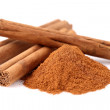 cinnamon in closeup — Stock Photo