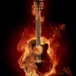 Fire guitar — Stock Photo