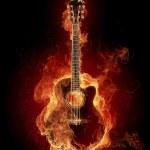 Fire guitar — Stock Photo