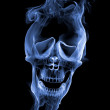 Smoke Skull — Stock Photo